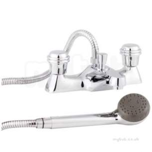 Twyfords Contemporary Brassware -  Logics Deck Mounted Bath/shower Mixer Exc Heads Lg5260cp
