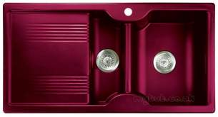 Rangemaster Sinks -  Lunar 985508 15b Cranberry And Acc Pack