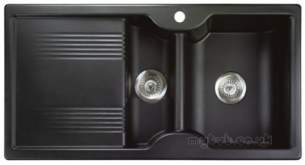 Rangemaster Sinks -  Lunar 985508 15b Black And Acc Pack