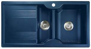 Rangemaster Sinks -  Lunar 985508 15b Regal Blue And Acc Pack