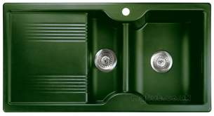 Rangemaster Sinks -  Lunar 985508 15b Rcng Green And Acc Pack