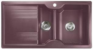 Rangemaster Sinks -  Lunar 985508 15b Rose Taupe And Acc Pack