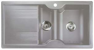 Rangemaster Sinks -  Lunar 985508 15b Silver And Acc Pack