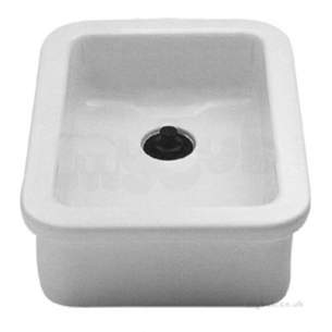 Twyfords Commercial Sanitaryware -  Lab Sink 390x255x160 No Overflow Plain Fc1414wh
