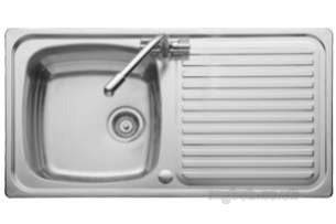Rangemaster Sinks -  Leisure Linear 2.0b Two Tap Holes Rev Sink Ss