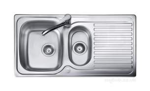 Rangemaster Sinks -  Linear 950 X 508mm Lrg Bwl 2th Rev Sink Ss