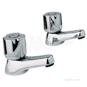 Twyfords Contemporary Brassware -  Logics Std Handles Pair Lg5800cp