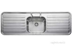 Rangemaster Sinks -  Luxe Lx1551th 1500 X 500 One Tap Hole Sbdd Ss