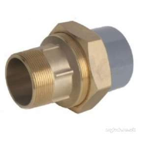 Durapipe Abs Fittings 1 14 and Above -  Durapipe Abs Composite Union Pl/mi Brass 217107 2