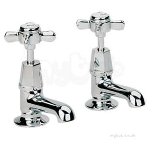 Twyford Traditional Brassware -  Manhattan 3/4 Pillar Taps Mh5215cp