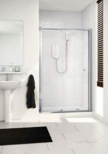 Mira Flight Sfe Enclosures -  Mira 900mm Single Sliding Door Cl/sl
