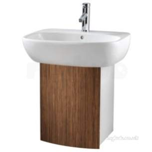Twyford Galerie Plan Furniture -  Twyford 89127 Teak Moda Under Basin Cabinet 89127