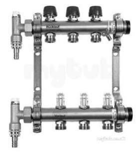 Underfloor Heating Manifolds and Ancillaries -  U/floor Heating 1 Inch Dom 10pt Manifold