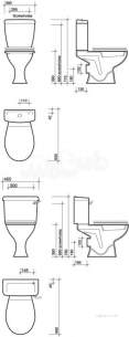 Twyford Mid Market Ware -  Option Close Coupled Cistern 6/4l Lever Ot2421wh