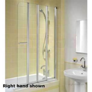 Twyford Outfit Total Install Showers -  Outfit 4 Part Folding Screen Right Hand Of0979cp