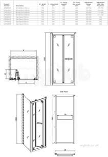 Twyford Outfit Total Install Showers -  Outfit Bifold Door 800mm Lh Or Rh Of4200cp