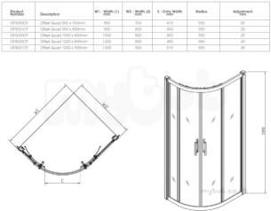 Shower Enclosures -  Outfit Offset Quad 900x760mm Left Hand Or Right Hand Of5000cp