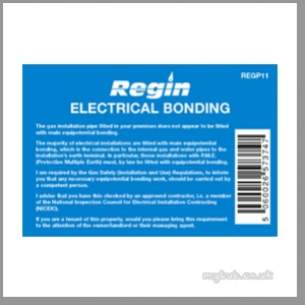 Regin Products -  Regin Regp11 Electrical Bond Sticker 8
