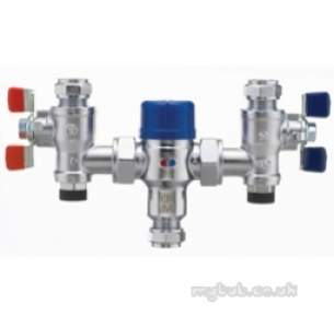 Pegler Thermostatic Mixing Valves -  22mm P402ua Thermo Mixing Valve Tmv3