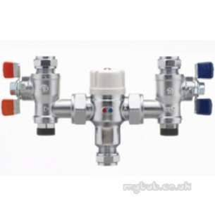 Pegler Thermostatic Mixing Valves -  22mm P404ua Thermo Mixing Valve Tmv2