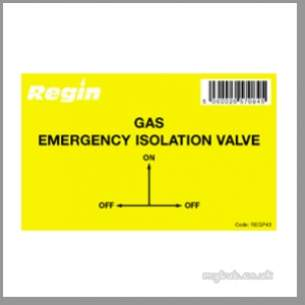 Regin Products -  Regin Regp43 Gas Iso Valve Sticker 8
