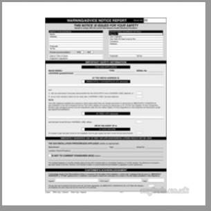 Regin Products -  Regin Regp55 Warning Notice Report Pad