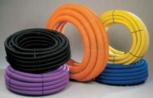 Polypipe Pvc and Pp Land Drain -  Ppc 80mm X 25m Black Land Drain Perf