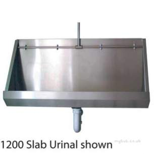Twyford Stainless Steel -  Twyford 1800 Urinal Wall Hung Ps8202ss
