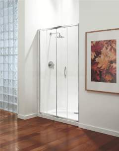 Coram Premier Shower Enclosures -  Premier 1200mm Sliding Door Wh/cl/st Door Only