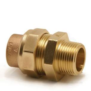 Yorkshire Endex End Feed Fittings -  Endex N69 22mm X 3/4 Inch Str Male Union