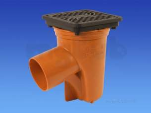 Hepworth Plastidrain -  110mm/160mm Round Access Gully 4a12a