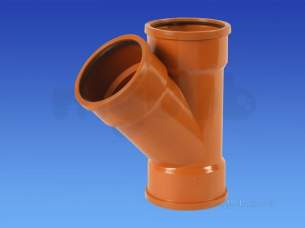 Hepworth Plastidrain -  82mm 45d Junction Triple Socket 3p09c