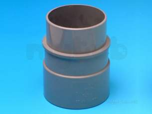 Hepworth Soil and Rainwater -  2.5 Inch R/w Pipe Connector Rp22-br