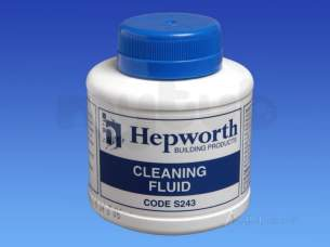 Hepworth Waste and Overflow -  250ml Can Solvent Cleaning Fluid S243