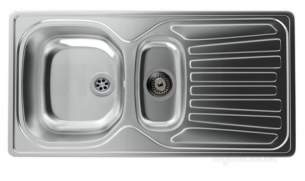 Carron Trade Sinks -  Carron Pheonix Precision Plus 150 965x500 1.5b Revolution Sink Stainless Steel