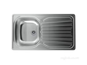Carron Trade Sinks -  Precision Plus Heavy-gauge Kitchen Sink With Compact Single Bowl And Drainer