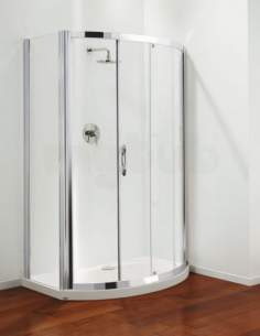 Coram Premier Shower Enclosures -  Premier Bow Front 1200mm Frame Pk Only Ps/cl