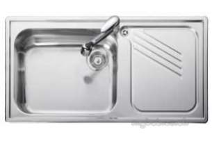 Rangemaster Sinks -  Proline 1.0b Linen Lhd And Ad2 Tap Centre
