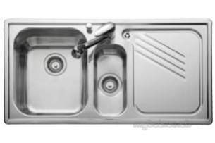 Rangemaster Sinks -  Leisure Proline 1.5b Lhd Chef Cntr Linen