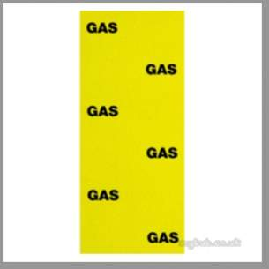 Regin Products -  Regin Regq630 Pipe Labels 8 Gas