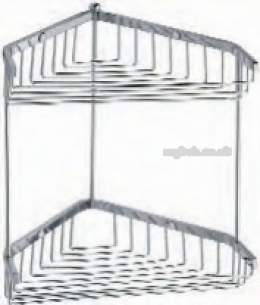 Croydex Bathroom Accessories -  Grand Hotel Qa011141 Two Tier Basket