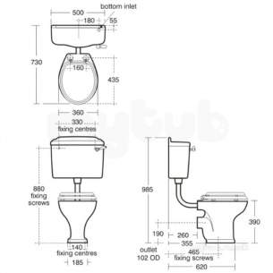 Ideal Standard Classic -  Ideal Standard Reflection Ll Wc Pan E4460 White