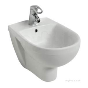 Twyford Mid Market Ware -  Refresh Bidet Wall Hung 1 Tap Re3411wh