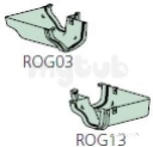 Polypipe Standard sovereign Rainwater -  Ogee 120deg Internal Angle Rog16-b
