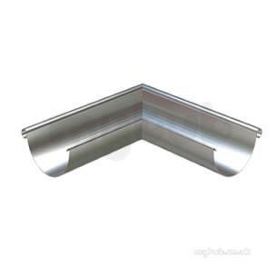 Lindab Rainwater -  H/r Ext Gutter Angle 100mm 90o Galv