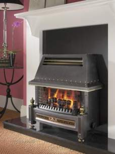 Flavel Gas Fires -  Flavel Regent Lfe Rc Black Gas Fire Ng