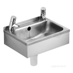 Denholm 2 Stainless Steel 46cm Washbasin With Right Hand Taphole