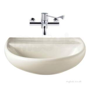 Twyfords Commercial Sanitaryware -  Sola Medical Washbasin 600x460 0 Tap Sa4350wh