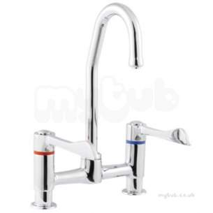Twyfords Commercial Brassware -  Sola Hospital Ftg Dual Flow 1/2 Deck Mounted Sf1077cp