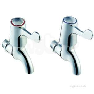 Twyfords Commercial Brassware -  Sola 1/2 Bib Taps Lever Pair Htm64-tb H1 Sf2301cp